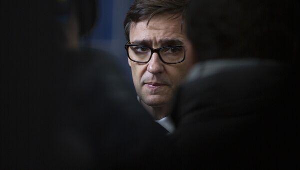 El ministro de Sanidad español, Salvador Illa - Sputnik Mundo