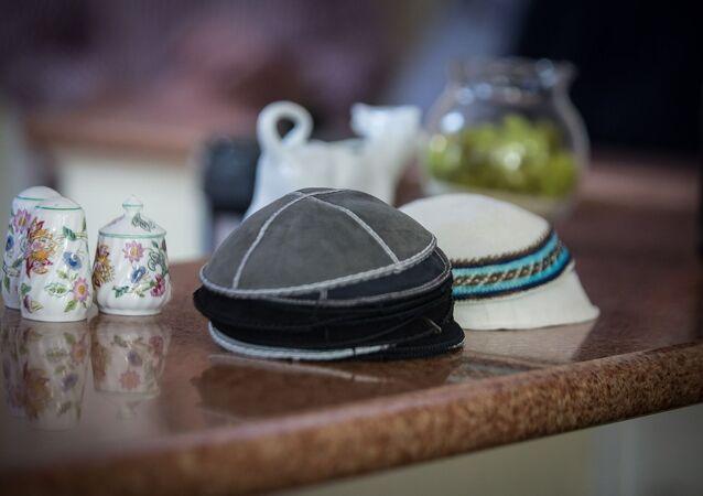 Judíos. Colectividad judía. Kipá. Imagen referencial