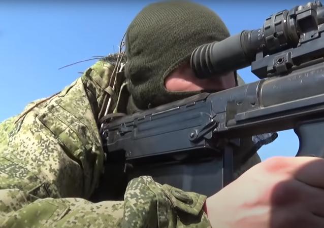 Francotiradores rusos ponen a prueba la puntería de sus fusiles de gran calibre Kord