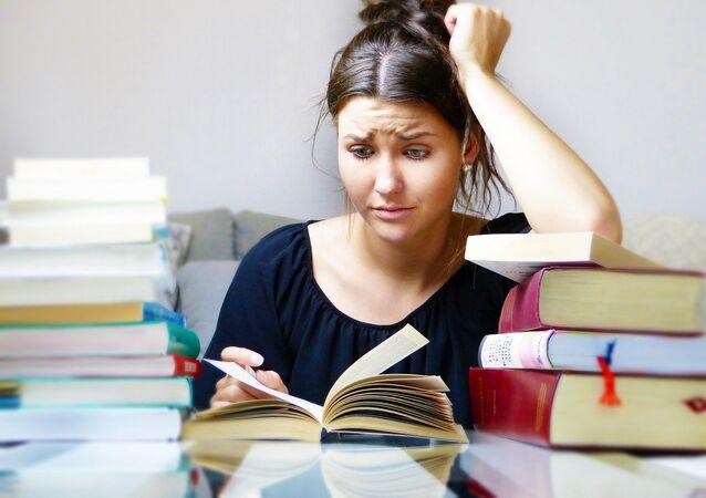 Una estudiante (imagen referencial)