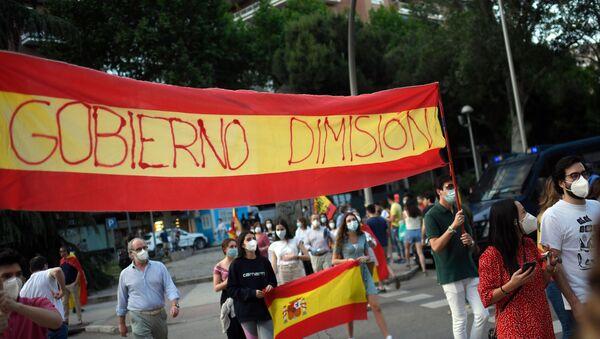 Protesta contra el Gobierno español - Sputnik Mundo