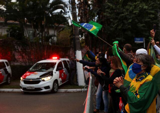 Protestas contra la cuarentena en el estado de Sao Paolo
