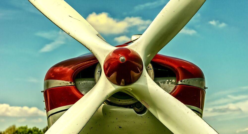 Las hélices de un avión (imagen referencial)