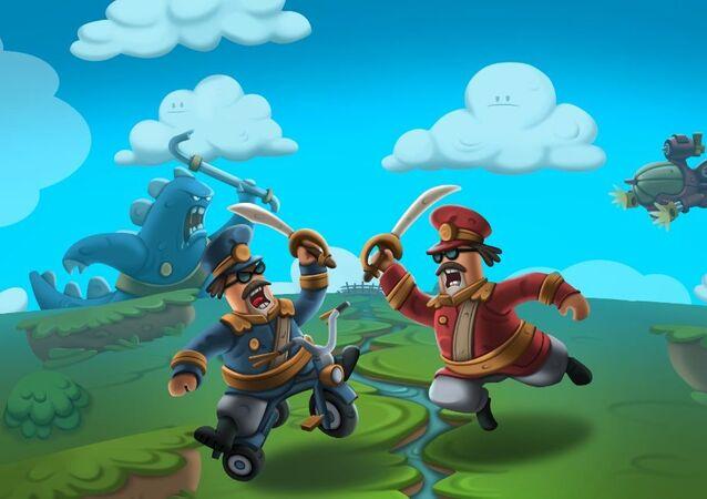 Imagen del videojuego colombiano World War Doh