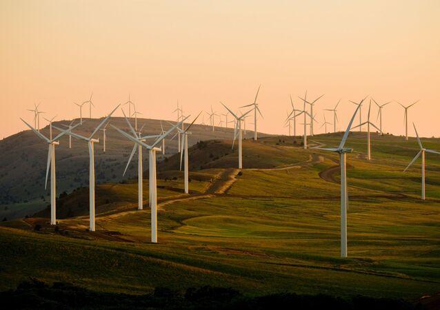 Un parque eólico (imagen referencial)