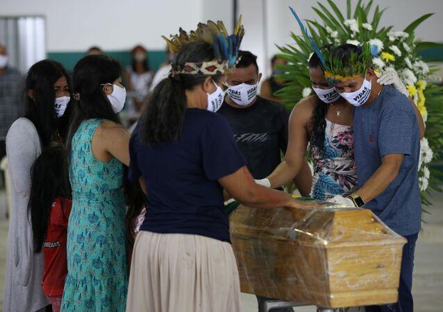 Funeral de jefe indígena Messias Kokama quien falleció por coronavirus