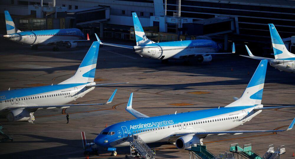 Aviones de Aerolíneas Argentinas