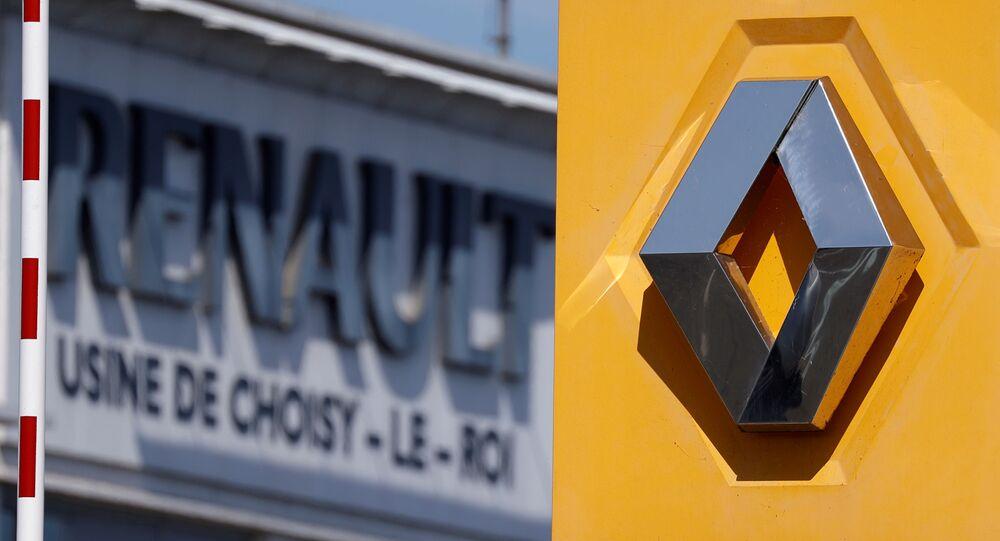 El logo del fabricante de automóviles Renault