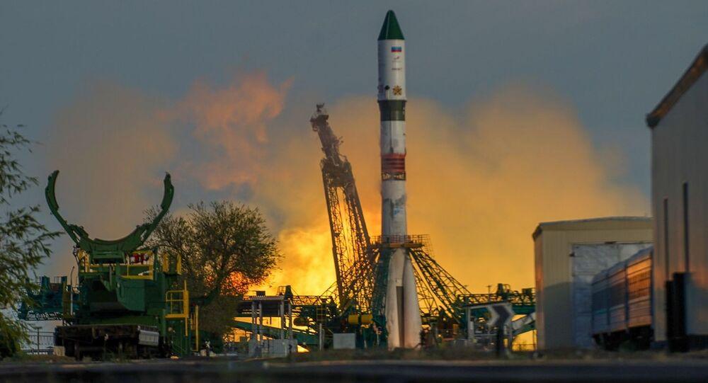Lanzamiento de un cohete Soyuz del cosmódromo de Baikonur (imagen referencial)
