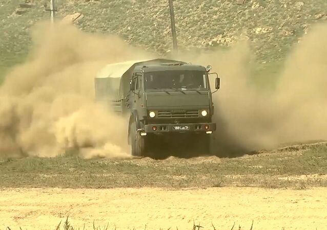 El servicio de transporte militar de Rusia celebra su 110 aniversario