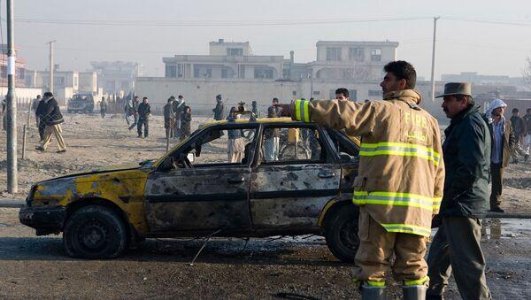 El lugar de una explosión en Afganistán - Sputnik Mundo