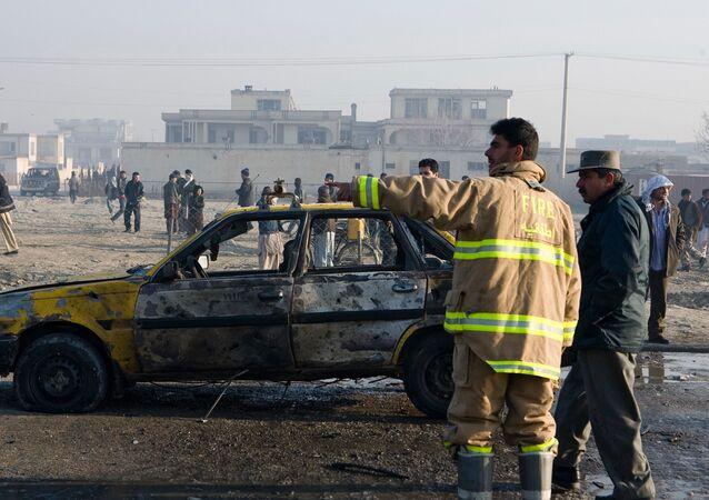 El lugar de una explosión en Afganistán (archivo)