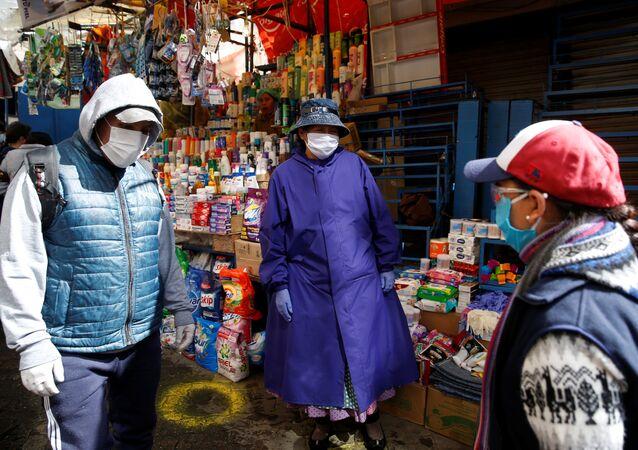 Un mercado en La Paz, Bolivia