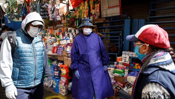 Un mercado en La Paz, Bolivia  - Sputnik Mundo