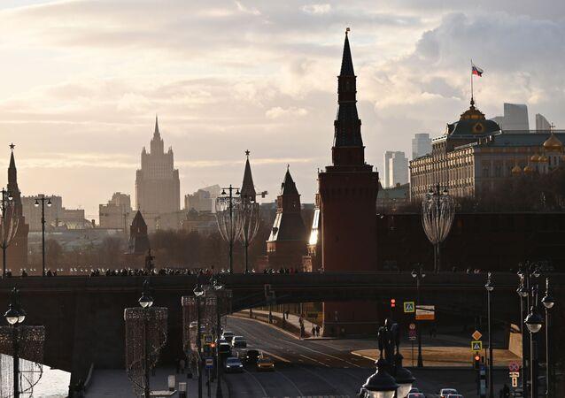 El Kremlin y el Ministerio de Exteriores de Rusia en Moscú