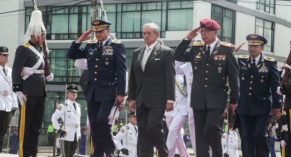 Oswaldo Jarrín, ministro de Defensa de Ecuador