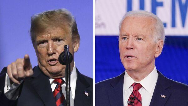 Donald Trump (izda.) y Joe Biden (dcha.), políticos estadounidenses - Sputnik Mundo