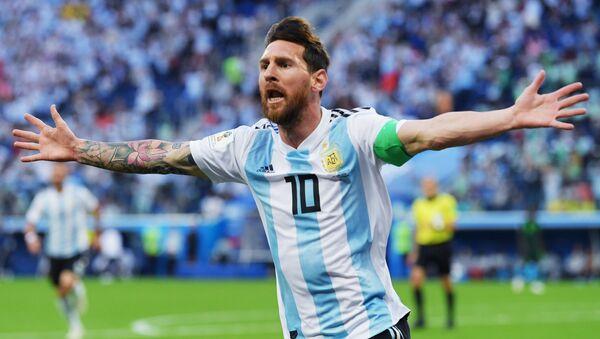 Lionel Messi, delantero de la selección argentina de fútbol - Sputnik Mundo