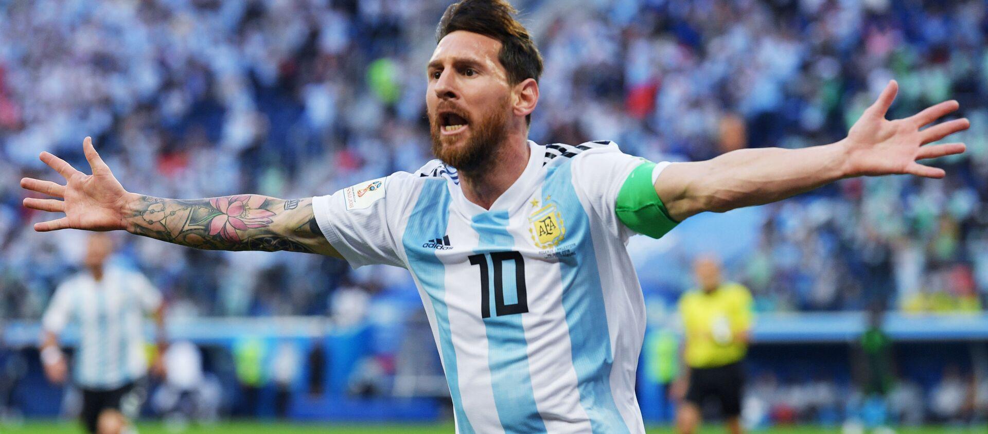 Lionel Messi, delantero de la selección argentina de fútbol - Sputnik Mundo, 1920, 12.10.2020