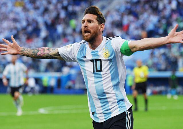Lionel Messi, delantero de la selección argentina de fútbol
