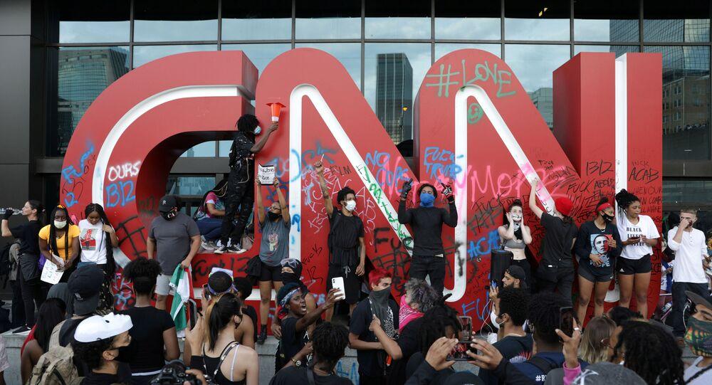 Logo de CNN en Anlanta, EEUU