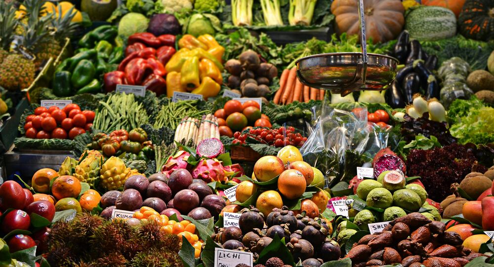 Un mercado de frutas (archivo)