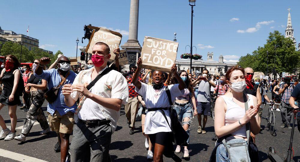 Protestas en Londres por la muerte de George Floyd
