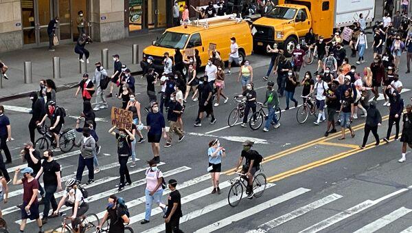 Protesta en Nueva York - Sputnik Mundo