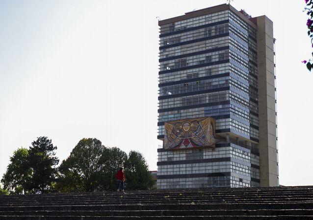 El edificio de la Universidad Nacional Autónoma de México (UNAM)