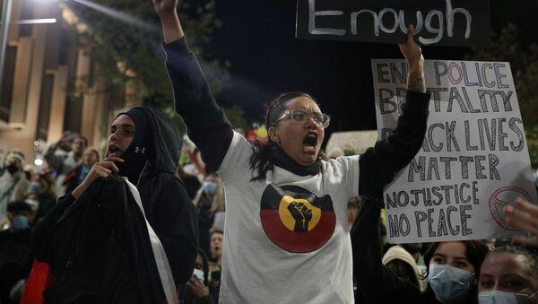 Protestas en Sídney  - Sputnik Mundo