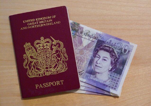 Un pasaporte del Reino Unido