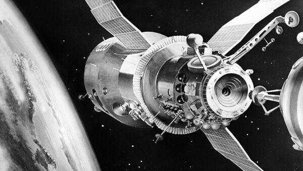 Salyut-7, estación espacial soviética (ilustración) - Sputnik Mundo