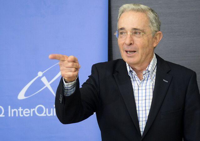 Álvaro Uribe, expresidente y actual senador de Colombia
