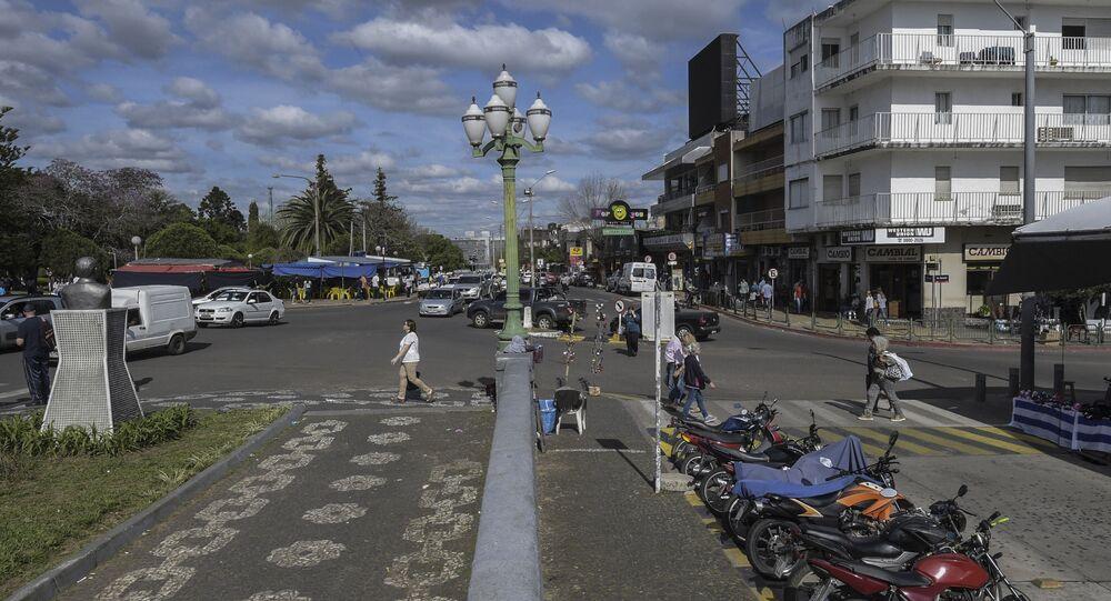 La frontera entre Santana do Livramento, en Brasil, y Rivera, en Uruguay