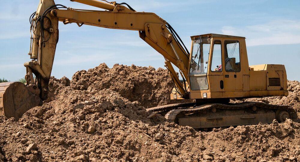 Una excavadora en una obra (imagen referencial)