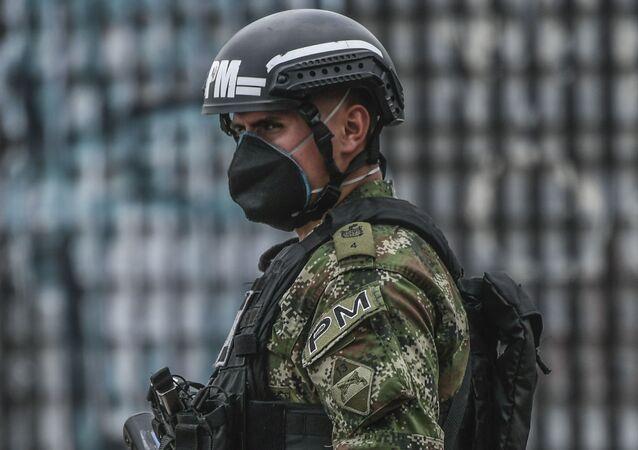 Un policía colombiano, imagen referencial