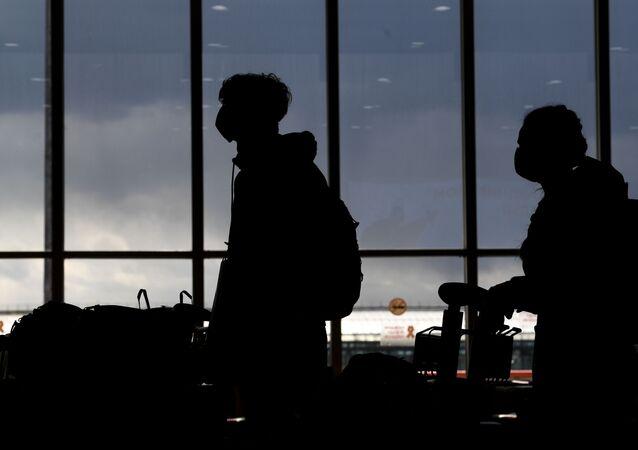 Los pasajeros en el aeropuerto de Sheremétievo
