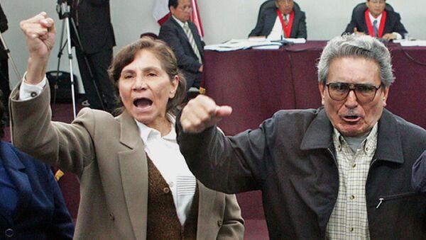 Abimael Guzmán, exlíder de la agrupación terrorista Sendero Luminoso, con su esposa Elena Iparraguirre (archivo) - Sputnik Mundo