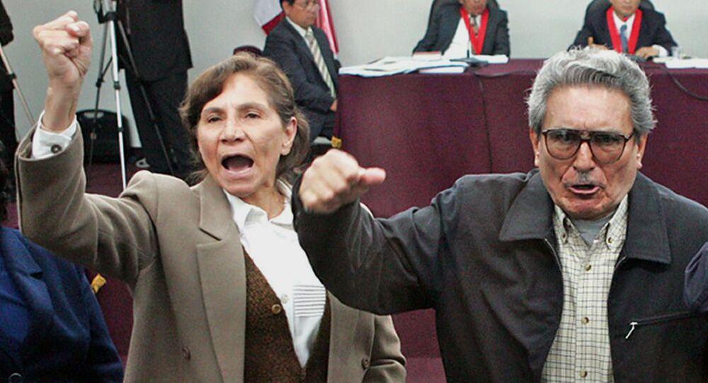 Abimael Guzmán, exlíder de la agrupación terrorista Sendero Luminoso, con su esposa Elena Iparraguirre (archivo)