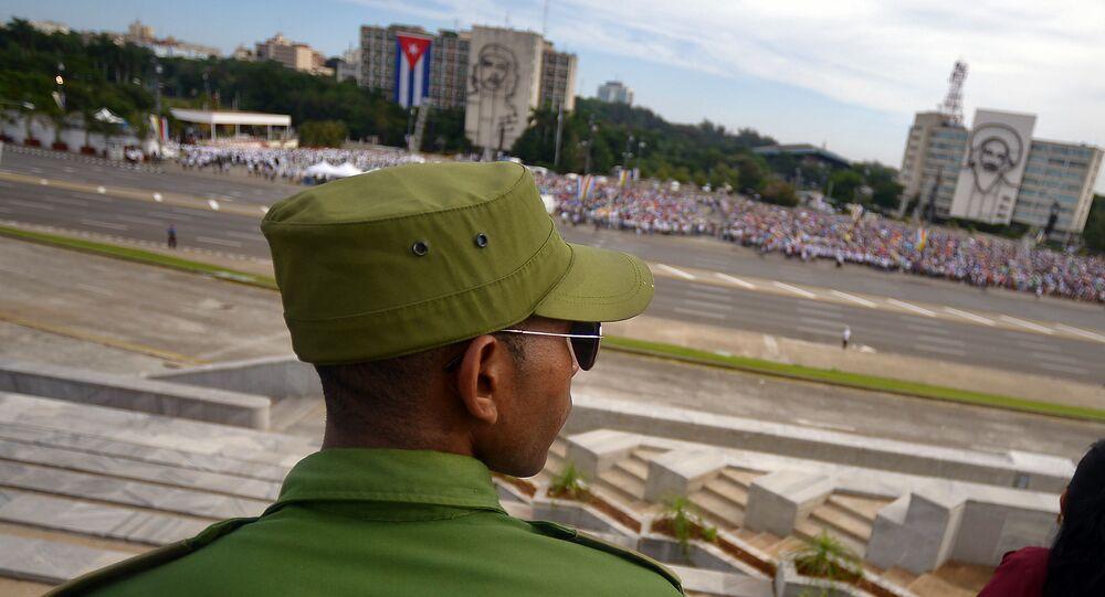 Un militar cubano