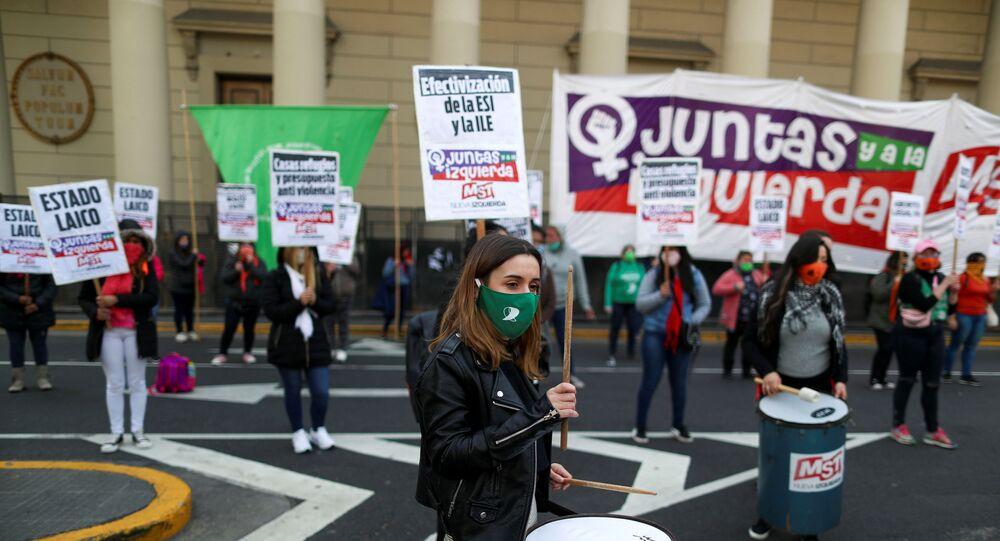 Manifestación del movimiento feminista Ni Una Menos en Buenos Aires, Argentina