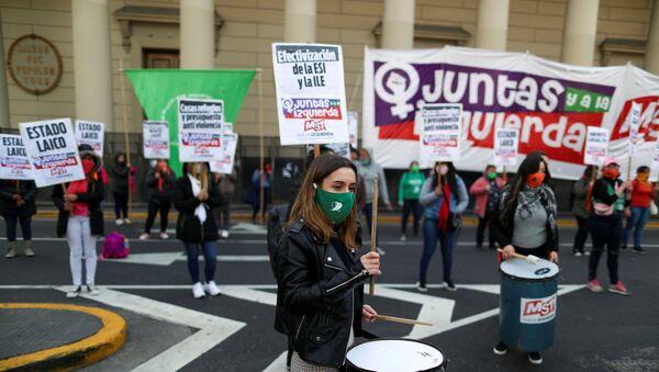 Manifestación del movimiento feminista Ni Una Menos en Buenos Aires, Argentina - Sputnik Mundo