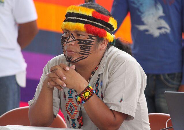 Un indígena ecuatoriano (imagen referencial)