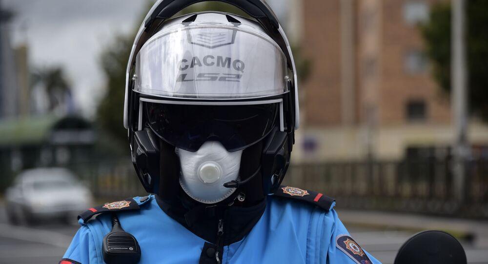 Policía en Quito, Ecuador