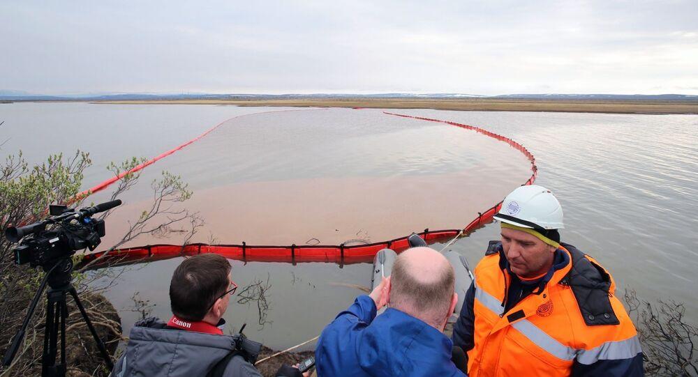 Derrame de combustible en Norilsk, Rusia