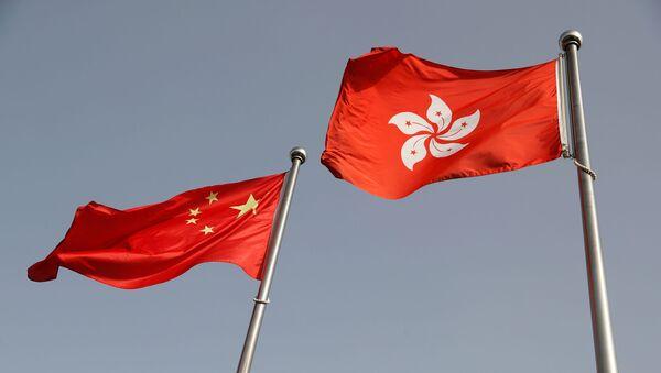 Las banderas de China y Hong Kong - Sputnik Mundo
