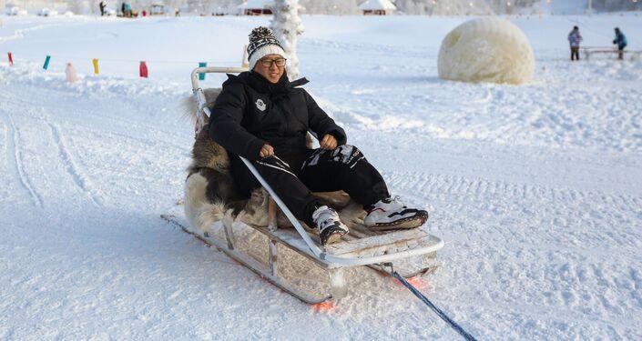 Un turista chino en el Ártico ruso