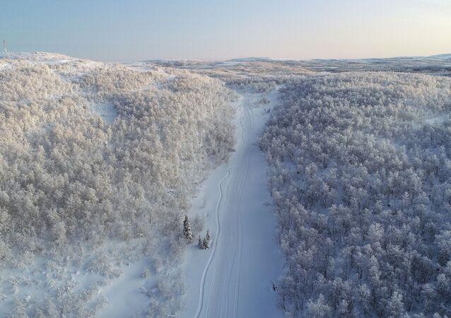 El paisaje del Ártico ruso