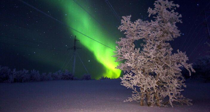 Aurora boreal en Rusia
