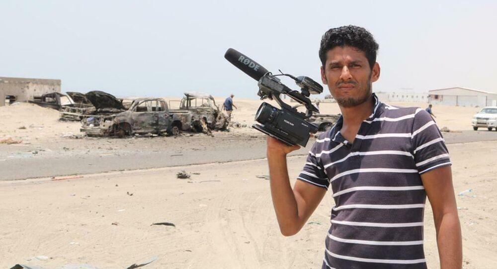 El corresponsal de Ruptly Nabil Hassan al Quaety